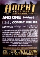 AMPHI FESTIVAL - 2018 - ASP - And One - Oomph - Mono Inc - Poster - Köln