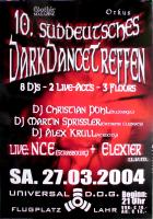 DARK DANCE TREFFEN 10. - 2004 - Plakat - In Concert - Poster - Lahr