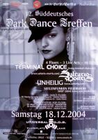 DARK DANCE TREFFEN 12. - 2004 - Unheilig - Saltatio Mortis - Poster - Lahr