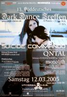 DARK DANCE TREFFEN 13. - 2005 - Suicide Commando - Qntal - Poster - Lahr