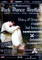 DARK DANCE TREFFEN 16. - 2005 - Diary of Dreams - ASP - Sol Invictus - Poster - Lahr