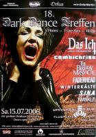 DARK DANCE TREFFEN 18. - 2006 - Das Ich - Faderhead - Combichrist - Poster - Lahr