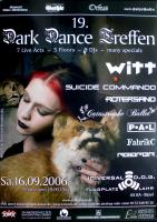 DARK DANCE TREFFEN 19. - 2006 - Joachim Witt - Rotersand - Fabrik C - Poster - Lahr