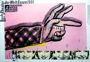 EDELMANN, HEINZ - 1991 - Plakat - Theater der Welt - Essen - Poster - D