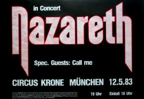 NAZARETH - 1983 - Plakat - In Concert - Sound Elixir Tour - Poster - München