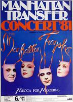 MANHATTAN TRANSFER - 1981 - Plakat - Mecca for Moderns Tour - Poster - Essen