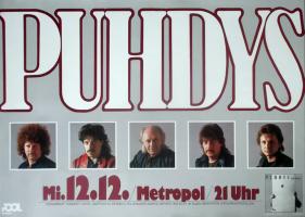 PUHDYS - 1984 - Plakat - In Concert - Das Buch Tour - Poster - Berlin