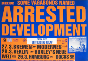 ARRESTED DEVELOPMENT - 1992 - In Concert - 3 Years 5 Months Tour - Poster