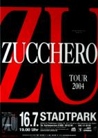 ZUCCHERO - 2004 - Plakat - In Concert - ZU Tour - Poster - Hamburg