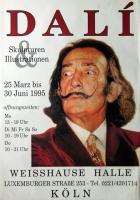 DALI, SALVADOR - 1995 - Plakat - Skulpturen - Illustrationen - Poster - Köln