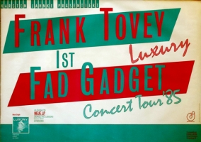 FAD GADGET - TOVEY - 1985 - Tourplakat - Concert - Luxury - Tourposter