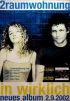 2 RAUMWOHNUNG - HUMPE - 2002 - Tourplakat - In Wirklich - Tourposter