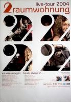2 RAUMWOHNUNG - HUMPE - 2004 - Tourplakat - Es wird Morgen - Tourposter