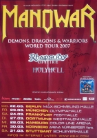 MANOWAR - 2007 - Tourplakat - Demons Dragons - mit Autogrammen - Signed