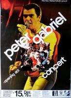 GABRIEL, PETER - GENESIS - 1978 - Konzertplakat - Tourposter - Mannheim