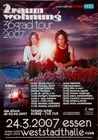 2 RAUMWOHNUNG - HUMPE - 2007 - Konzertplakat - 36 Grad - Tourposter