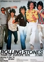 ROLLING STONES - 1976-05-31 - Plakat - European Tour - Poster - Köln