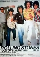 ROLLING STONES - 1976-06-01 - Plakat - European Tour - Poster - Dortmund