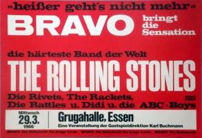 ROLLING STONES - 1966-03-29 - Konzerplakat - The Rattles - Poster - Essen