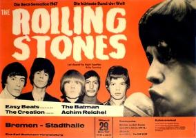ROLLING STONES - 1967-03-29 - Konzerplakat - Achim Reichel - Poster - Bremen