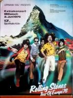 ROLLING STONES - 1976-06-02 - Plakat - European Tour - Poster - Köln - Berg
