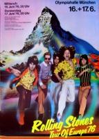 ROLLING STONES - 1976-06-17 - Plakat - European Tour - Poster - München - Berg