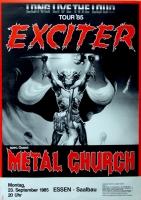 EXCITER - 1985 - Plakat - In Concert - Metal Church - Poster - Essen