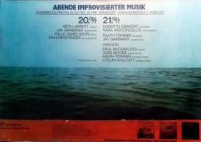 ABENDE IMPROVISIERTER MUSIK - 1977 - Plakat - Jarrett - Poster - Frankfurt