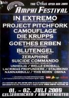 AMPHI FESTIVAL - 2005 - Project Pitchfork - Krupps - Poster - Gelsenkirchen
