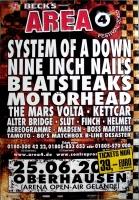 AREA 4 FESTIVAL - 2005 - System of a Down - Motörhead - Beatsteks - Poster