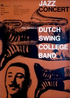 DUTCH SWING COLLEGE BAND - 1961 - Konzertplakat - Jazz - Kieser