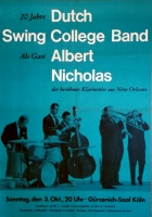 DUTCH SWING COLLEGE BAND - NICHOLAS - 1965 - Konzertplakat - Jazz