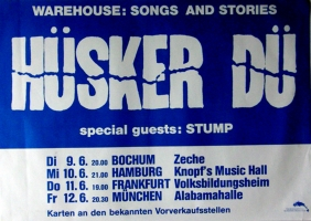 HÜSKER DÜ - 1987 - Tourplakat  - Concert - Warhouse - Tourposter
