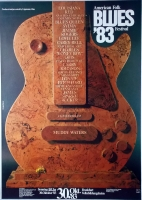 AMERICAN FOLK & BLUES - 1983 - Plakat - Günther Kieser - Poster