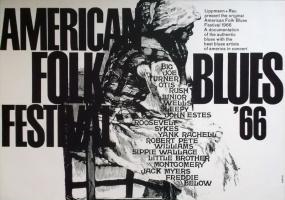 AMERICAN FOLK & BLUES - 1966 - Plakat - Günther Kieser - Poster