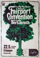 FAIRPORT CONVENTION - 1976 - Plakat - Rising for the Moon - Poster - Erlangen