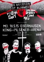 5 SECONDS OF SUMMER - 2015 - Konzertplakat - Tourposter - Oberhausen