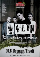 4LYN - 4 LYN - 2002 - Konzertplakat - Concert - Dredg - Tourposter - Bremen
