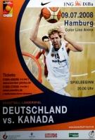 BASKETBALL - 2008 - Plakat - Nowitzki - Deutschland - Kanada - Poster - Hamburg