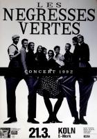 LES NEGRESSES VERTES - 1992 - Plakat - Famille Nombreuse Tour - Poster - Köln