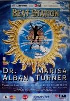 BEAT STATION - 1996 - Plakat - Dr Alban - Marisa Turner - Poster - Hamburg