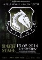 A PALE HORSE NAMED DEATH - 2014 - Konzertplakat - Tourposter - München