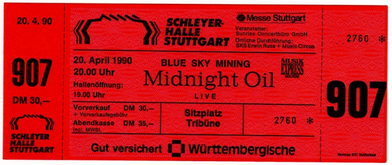 Midnight Oil Stuttgart