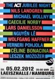 ACT JUBILEE NIGHT - 2012 - Konzertplakat - Landgren - Haffner - Poster - Hamburg