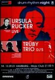 DRUM RHYTHM NIGHT - 2001 - Plakat - Ursula Rucker - Poster - Hamburg