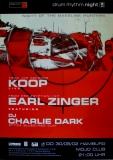 DRUM RHYTHM NIGHT - 2002 - Plakat - Koop - Earl Zinger - Poster - Hamburg