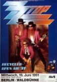 ZZ TOP - 1991 - Plakat - In Concert - Recycler Open Air Tour - Poster - Berlin
