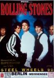 ROLLING STONES - 1990-08-13 - Plakat - Steel Wheels - Poster - Berlin (G)