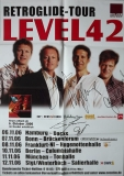 LEVEL 42 - 2006 - Tourplakat - Retroglide - Tourposter - Autogramme / Signed