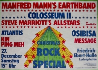 CHRISTMAS ROCK - 1975 - Manfred Mann - Colosseum - Poster - Ludwigshafen